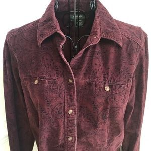 Eddie Bauer Long Sleeve Button Down Corduroy Shirt
